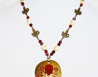 Red Octopus Necklace