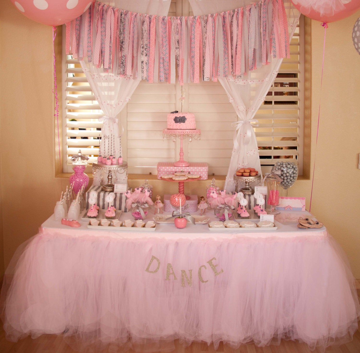 Tutu Table Skirt Tulle Custom Made Candy Buffet