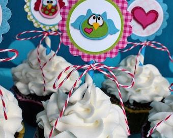 Hooo-Ray Owl Cupcake Toppers