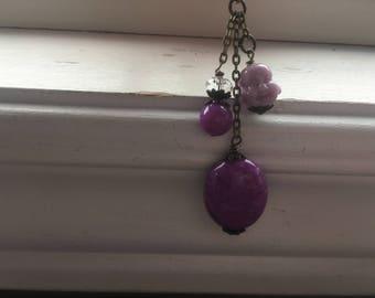 Buddha zipper pull -purple buddha purse dangle -purre buddha purse charm zipper pull