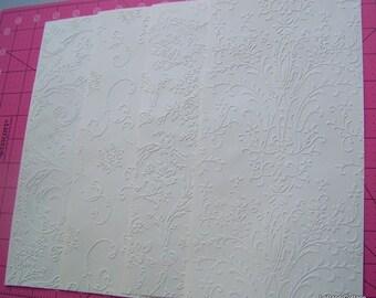 Embossed cardstock sheets