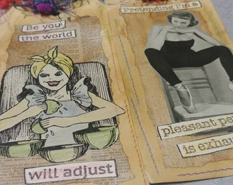 Altered Vintage Lady Tag Set