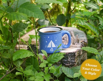 Tent Camping Mug - Choose Your Cup Color