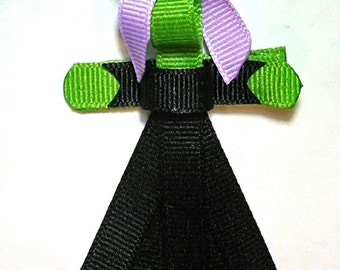 Witch Ribbon Sculpture Clip