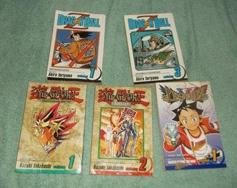 fantasy-manga-paperbacks-lot of 5- dragon ball z-1990-GD