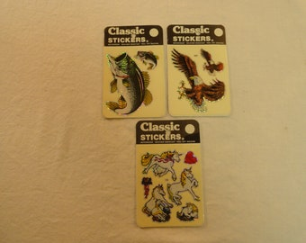 Set Of 3 1980 Decal Specialties Inc. Classic Stickers