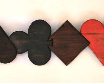 "Wood wall decor ""four ACEs"""