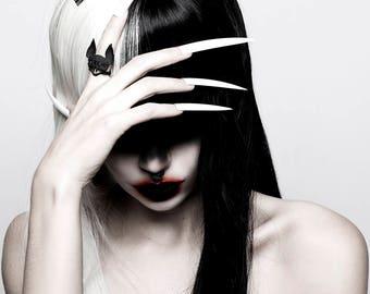 Vampir-Fledermaus-Ring in schwarz