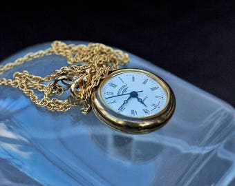 Vintage Late 60's Old Quartz Pocket Watch for Repair Not Tested