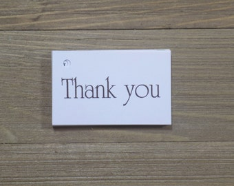 Basic Thank You Favor Tags Wedding Favors - Favor Tags - Thank you Tags - Personalized Favors - Bridal Tags