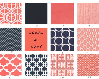 Navy, Coral, Curtains, White, Living Room, Bedroom, Kitchen, Window, Treatment, Panels, Solid, Drapes, Decor, Blue, Premier Prints, Custom