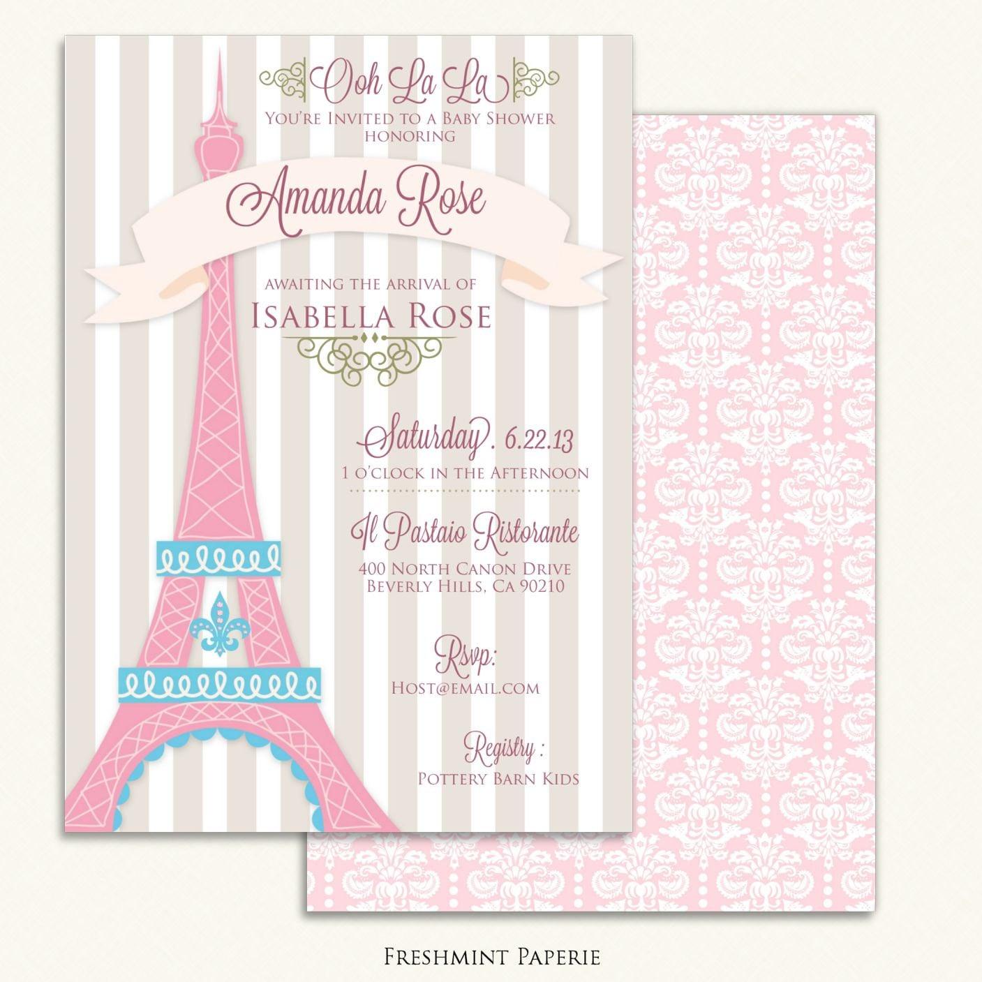 Printable invitations baby shower invitation parisian zoom stopboris Image collections