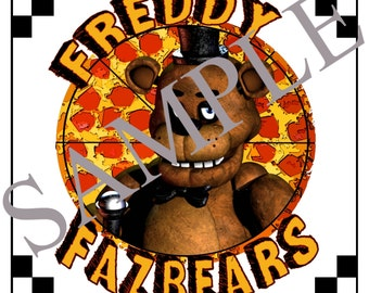 Five Night's At Freddy's Printable Pizza Box Labels, FNAF Party Supplies, Freddy Fazbear's Pizza