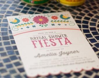 Printable Fiesta Bridal Shower Invitations - Mexican - Cinco De Mayo