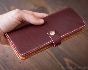 BUILD-YOUR-OWN - Women's long wallet with snap