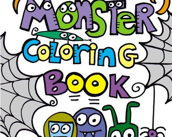 PDF Printable Digital Version Pop Art Monster Coloring Book