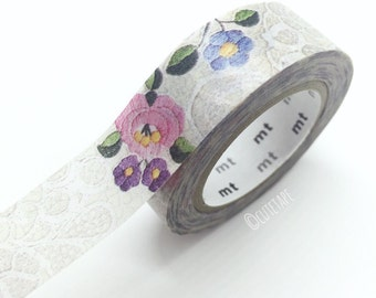 Japanese Lace flowers Washi tape floral Pretty Tape wedding decor gift wrap packaging