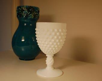 Fenton Milk Glass Hobnail Goblet