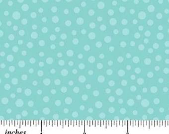By The HALF YARD - Don't Be Afraid by Deborah Edwards for Northcott, Pattern #2865-60 Light Blue Tonal Irregular Dots