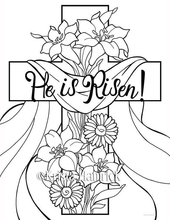 easter sunday coloring pages - photo#3
