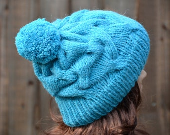 Knit Hat Slouchy Hat Womens Knit Hat Knitted Hat Knit Beanie Beret Hat Hand Knitted Hat Knit Hat Women Slouchy Beanie Chunky Hat