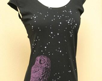 Night Owl black scoop neck Top