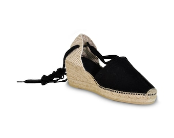 Flat Canvas Shoes With Rope Soles