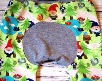 CUSTOM Gnome Maxaloones - Boy Maxaloones - Grow With Me Pants -  Babywearing Pants - Cloth Diaper Pants - Baby Leggings - Gnomes -Size 1