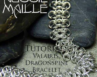 Chainmaille Tutorial - Valairis Dragonspine Bracelet