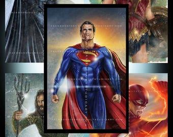 Justice League Premium Set (Large) with FREE BONUS VARIANT Print!