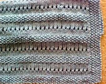 Fun Stitch Baby Blanket - - Knit ePattern PDF