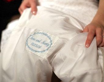 Wedding Dress Label Tag