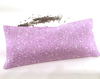 Organic Lavender Eye Pillow, Birds, lavender aromatherapy, heat pack, cold pack, restorative gifts, yoga gifts, yoga accessories, spa gifts