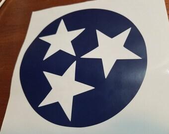 Tennessee Tristar Vinyl Decal