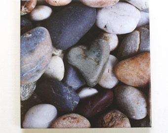 Heart Rock Tile Trivet Stone Heart Decorative Tile