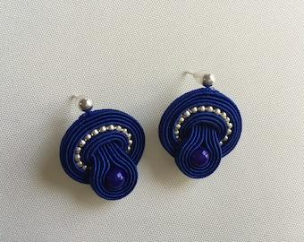 Soutache earrings  - blue - Gift for her
