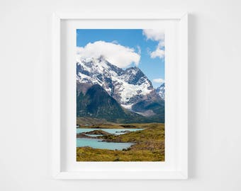 Patagonia landscape print - Chile nature photo - South American art print - Large wall art - 16x20 20x24 - Photo print - Modern travel decor