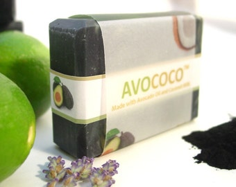 Acne Charcoal Soap, Vegan Soap, Acne Face Soap, Charcoal Soap, Acne Soap, Detox, Activated Bamboo Charcoal Soap, Lavender and Lime Soap