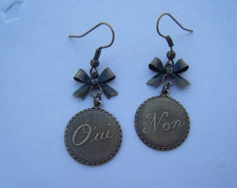 "Antique ""Yes and no"" earrings"