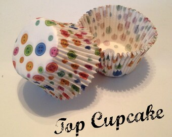 Button Cupcake Liners