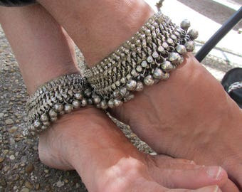 Pair Kuchi Anklets Tribal Jewelry