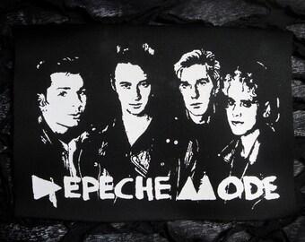 Depeche Mode Goth Punk Patch - Black, White (the cure, bauhaus, siouxsie)
