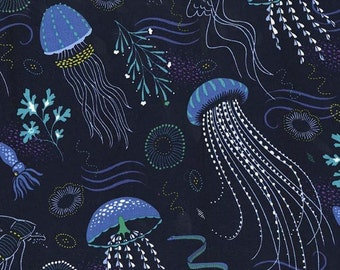 Into the Deep in Lagoon  PS7111- Michael Miller Fabrics - By the Yard