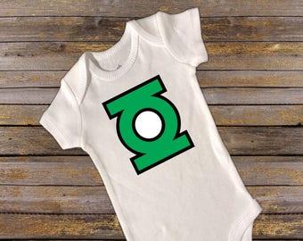 Green Lantern Onesie/Green Lantern Shirt. Baby/Infant/Toddler/Youth. Superhero