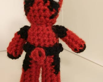 Amigurumi Deadpool Inspired Crocheted Doll/Toy