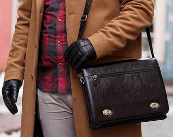 Leather briefcase Leather messenger Leather laptop bag Mens leather messenger bag Leather satchel Mens satchel Mens leather satchel bag