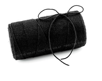 Solid Black Divine Twine - 240 yard spool - 100% Cotton Bakers Twine made in the USA