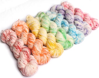 100g hand dyed yarn 'Speckled Colours' Lace