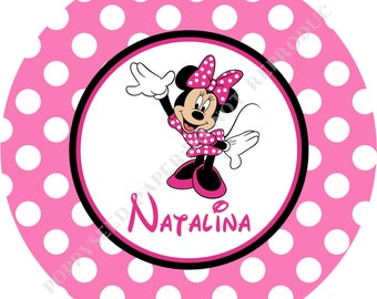 Minnie Mouse plate or bowl- Personalized Minnie Mouse melamine plate- Personalized plate or bowl- Personalized with name- Minnie Mouse bowl