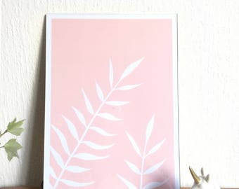 Pink fern Illustration